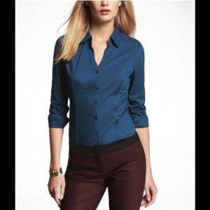 Express The Essential Teal Button Down Shirt - NWT